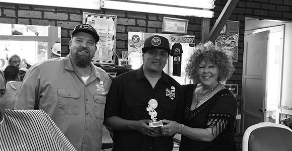 Mike's Barber Shop wins Best Commercial Entry at the Pismo Beach Clam Parade 2017